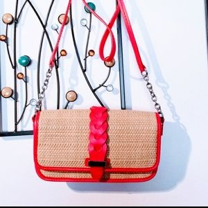Cole Haan crossbody woven straw bag